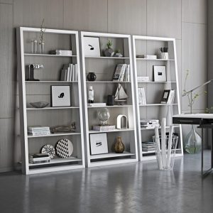 Library shelving design