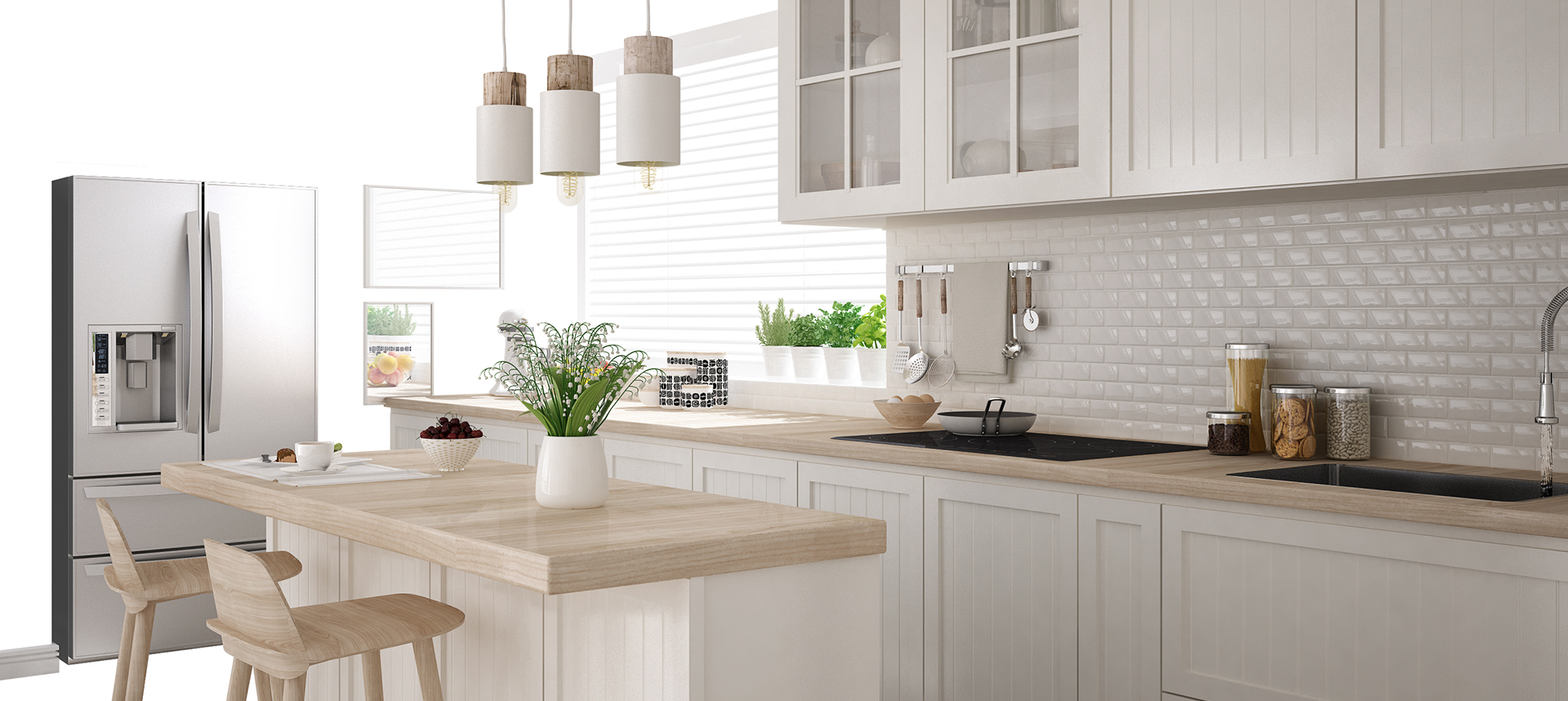 White Kitchen Design by Unica Concept