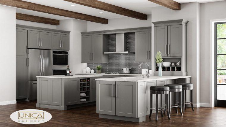 gray kitchen cabinet designs