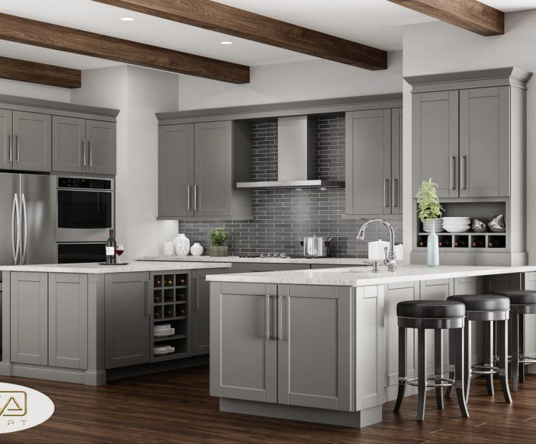 gray kitchen cabinet designs