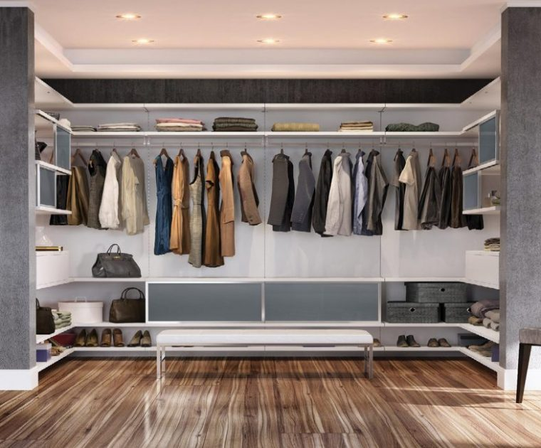 Simple closet ideas and storage space